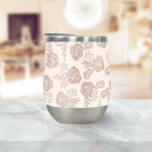 Load image into Gallery viewer, Pastel Floral Pattern Stemless Wine Tumblers