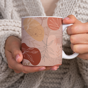 Pink Abstract Desert Pattern - Mug