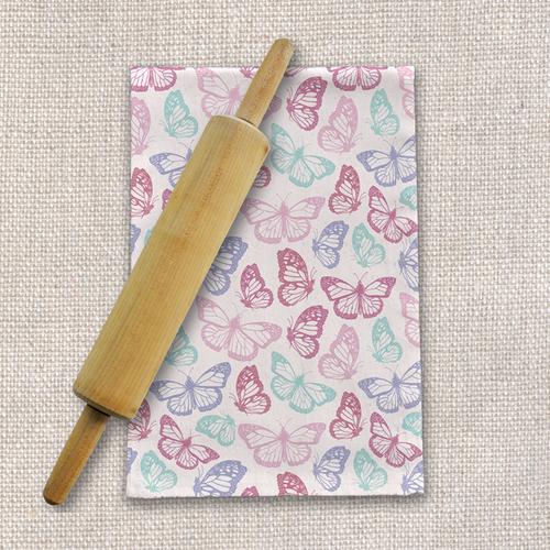 Pink Butterfly Tea Towels