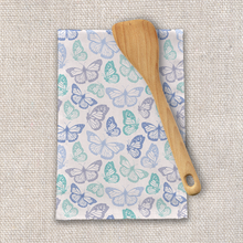 Load image into Gallery viewer, Purple and Green Butterfly Tea Towels