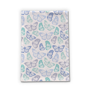 Purple and Green Butterfly Tea Towels