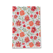 Load image into Gallery viewer, Red Flower Burst Pattern Tea Towel