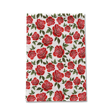 Load image into Gallery viewer, Rose Watercolor Tea Towel