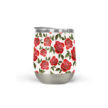 Load image into Gallery viewer, Rose Watercolor Stemless Wine Tumbler