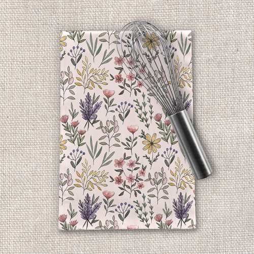Spring Botanical Tea Towel