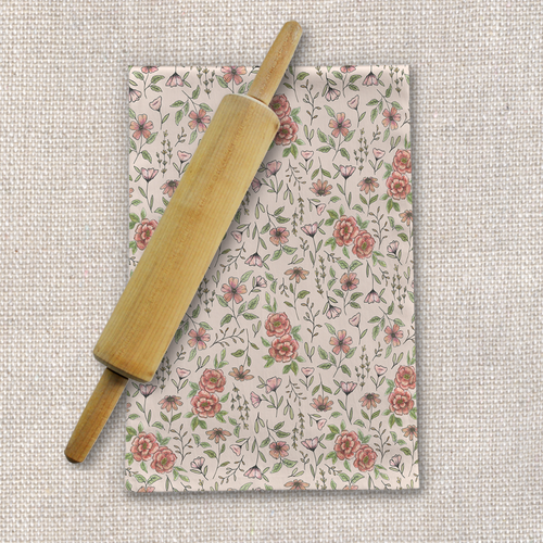 Spring Floral Tea Towel