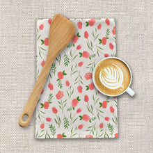 Load image into Gallery viewer, Spring Watercolor Flowers Tea Towels