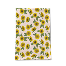 Load image into Gallery viewer, Sunflower Watercolor Pattern Tea Towel
