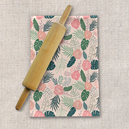 Tropical Floral Tea Towel