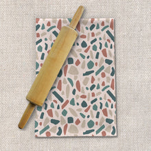 Load image into Gallery viewer, Warm Terrazzo Pattern Tea Towels