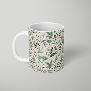 Winter Berry Pattern - Mug