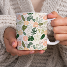 Load image into Gallery viewer, Yellow and Green Tropical Floral Patten - Mug