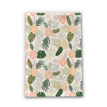 Load image into Gallery viewer, Yellow and Green Tropical Floral Tea Towel
