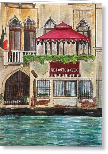Al Ponte Antico - Greeting Card