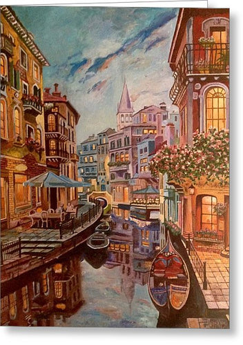 An Evening In Venice - Greeting Card
