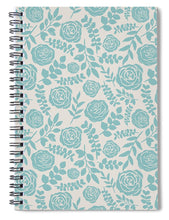 Load image into Gallery viewer, Baby Blue Floral Pattern - Spiral Notebook