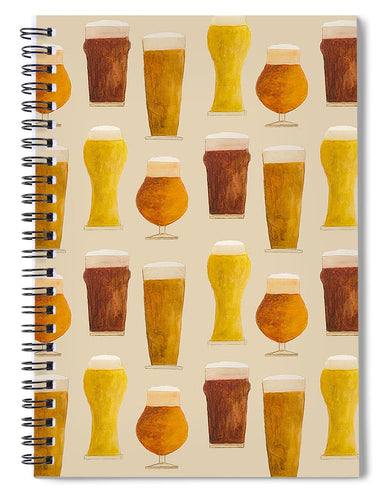 Beer Pattern - Spiral Notebook
