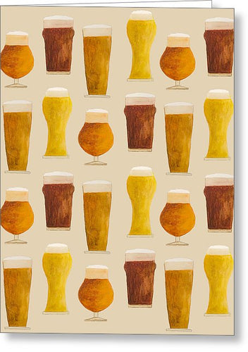 Beer Pattern - Greeting Card