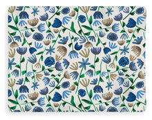Load image into Gallery viewer, Blue Floral Pattern 2 - Blanket
