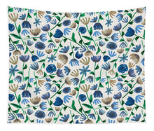 Load image into Gallery viewer, Blue Floral Pattern 2 - Tapestry