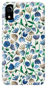 Blue Floral Pattern 2 - Phone Case