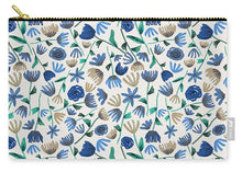 Load image into Gallery viewer, Blue Floral Pattern - Carry-All Pouch