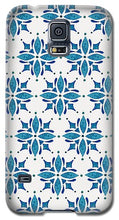 Load image into Gallery viewer, Blue Watercolor Tile Pattern - Phone Case