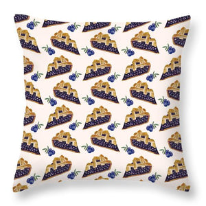 Blueberry Cobbler - Throw Pillow