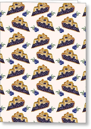 Blueberry Cobbler - Greeting Card