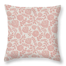 Load image into Gallery viewer, Blush Floral Pattern - Throw Pillow