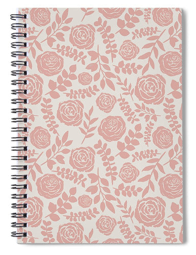 Blush Floral Pattern - Spiral Notebook