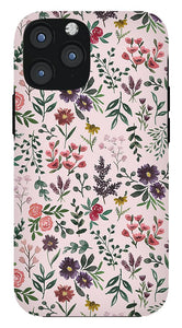 Bright Watercolor Flower - Pink - Phone Case