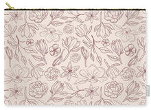 Load image into Gallery viewer, Burgundy Magnolia Pattern - Carry-All Pouch