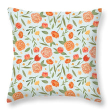 Load image into Gallery viewer, Burnt Orange Floral Pattern - Throw Pillow