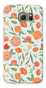 Burnt Orange Floral Pattern - Phone Case