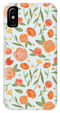 Load image into Gallery viewer, Burnt Orange Floral Pattern - Phone Case