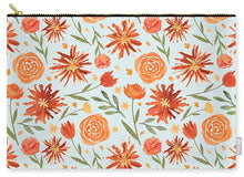 Load image into Gallery viewer, Burnt Orange Flower Burst Pattern - Carry-All Pouch