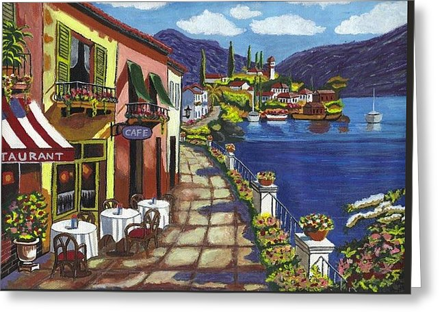 Cafe By The Sea - Greeting Card