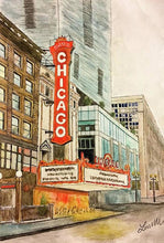 Load image into Gallery viewer, Chicago Theatre - Spiral Notebook