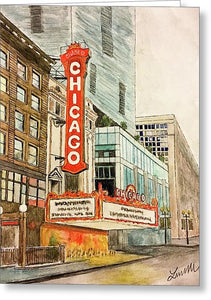 Chicago Theatre - Greeting Card