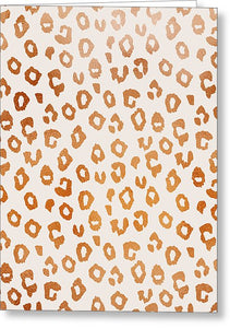 Copper Leopard Print - Greeting Card