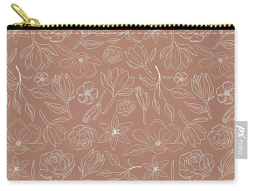 Copper Magnolia Pattern - Carry-All Pouch