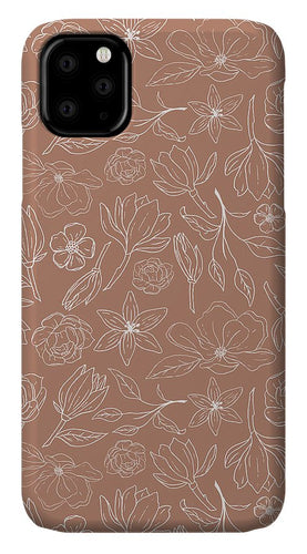 Copper Magnolia Pattern - Phone Case