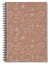 Load image into Gallery viewer, Copper Magnolia Pattern - Spiral Notebook
