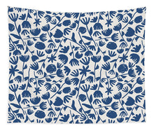 Load image into Gallery viewer, Dark Blue Floral Pattern - Tapestry