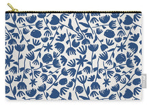 Load image into Gallery viewer, Dark Blue Floral Pattern - Carry-All Pouch