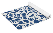 Load image into Gallery viewer, Dark Blue Floral Pattern - Yoga Mat