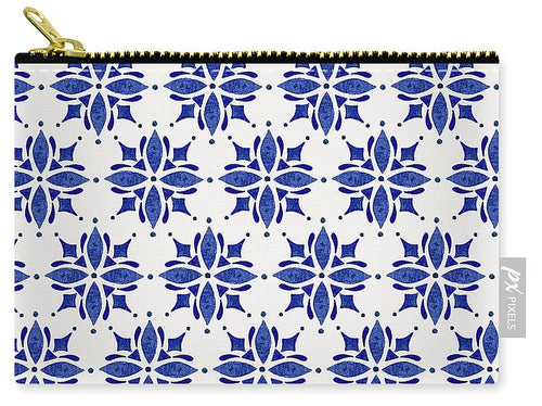 Dark Blue Tile Pattern - Carry-All Pouch