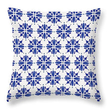 Load image into Gallery viewer, Dark Blue Tile Pattern - Throw Pillow
