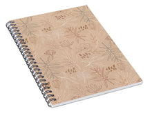 Load image into Gallery viewer, Desert Leaf Pattern - Spiral Notebook